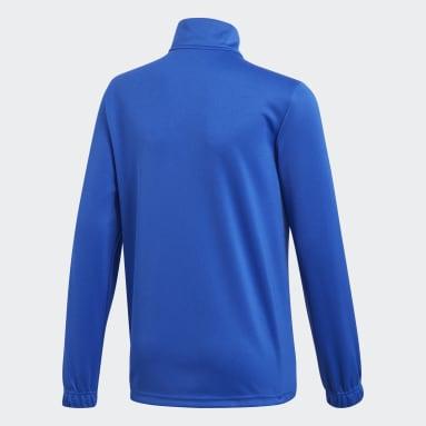 Kinderen Fitness En Training Blauw Core 18 Trainingsjack