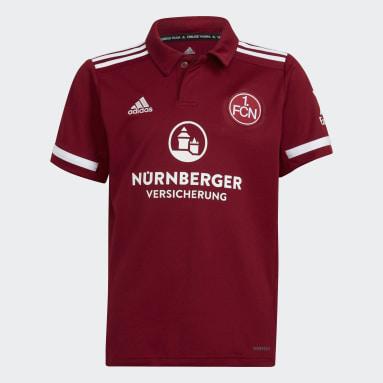 Maillot Domicile 1. FC Nuremberg 21/22 Rouge Enfants Football