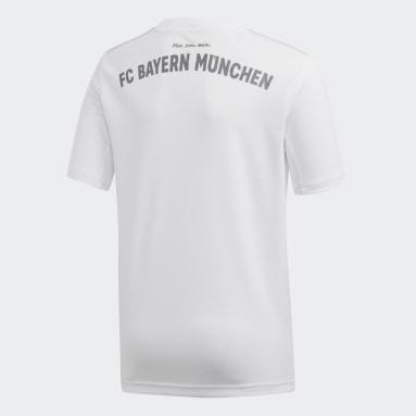 Jersey Visitante FC Bayern Blanco Niño Fútbol