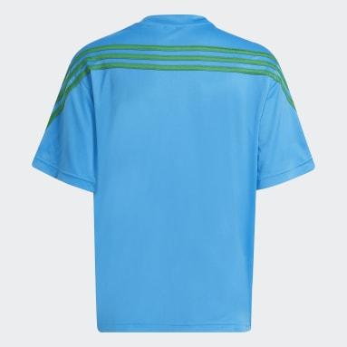 เด็ก เทรนนิง สีน้ำเงิน เสื้อยืด adidas x Classic LEGO® AEROREADY 3-Stripes