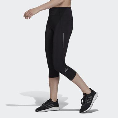Women Running Black Own The Run 3/4 Running Leggings