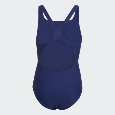 Fato de Banho Badge of Sport Azul Raparigas Natação