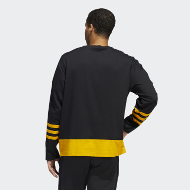 Men's Hockey Black Bruins Crew Sweater