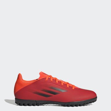 Chaussure X Speedflow.4 Turf rouge Soccer