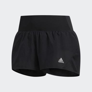 Women Running Black Run It 3-Stripes PB Shorts