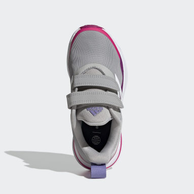 Kids Running Grey FortaRun Double Strap Running Shoes