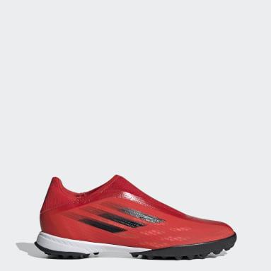 Scarpe da calcio X Speedflow.3 Laceless Turf Rosso Calcio