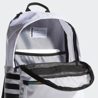 Essentials White Classic 3-Stripes Backpack