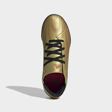 Girls Football Gold Nemeziz Messi.4 Turf Boots