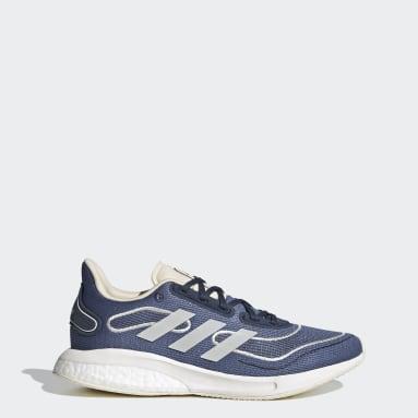 Women Running Blue Supernova Shoes