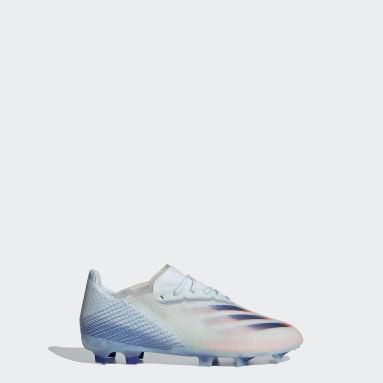 Bota de fútbol X Ghosted.1 césped natural seco Azul Niño Fútbol