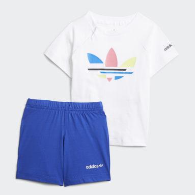 Barn Originals Vit Adicolor Shorts and Tee Set