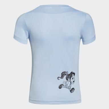 Meisjes Fitness En Training Blauw Disney Comfy Princesses T-shirt