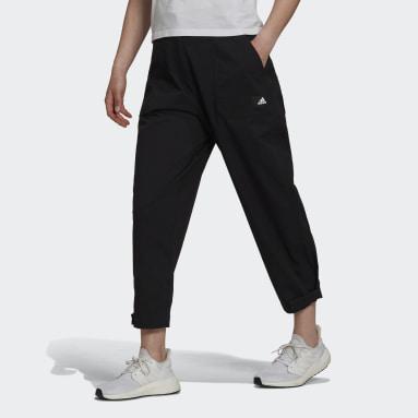 Calças em Sarja adidas Sportswear Preto Mulher Sportswear