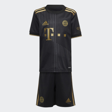 Kids Football Black FC Bayern 21/22 Away Mini Kit