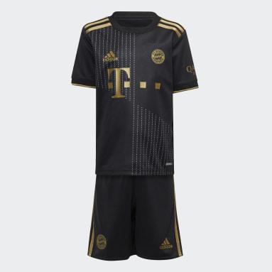 Børn Fodbold Sort FC Bayern 21/22 Mini udebanesæt