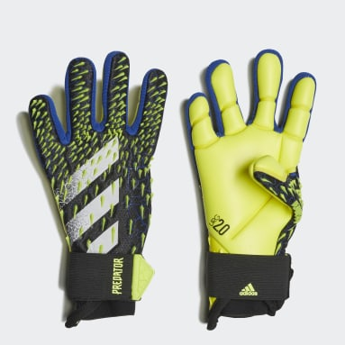 Youth 8-16 Years Football Black Predator Pro Goalkeeper Gloves