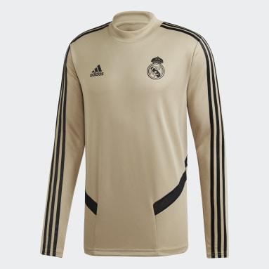 Sudadera entrenamiento Real Madrid Beige Hombre Fútbol