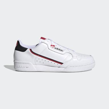 ผู้ชาย Originals สีขาว รองเท้า Continental 80