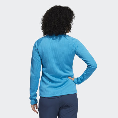 Women's Golf Turquoise Textured Layer Jacket
