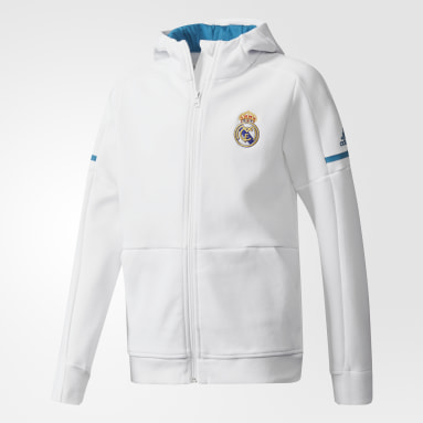 Sudadera Real Madrid Anthem Squad Blanco Niño Fútbol