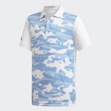 Boys Golf Striped Polo Shirt