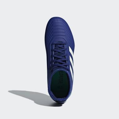 Calzado Predator 18.3 Firm Ground Azul Niño Fútbol