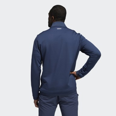 Men Golf Blue Recycled Content COLD.RDY Quarter-Zip Pullover