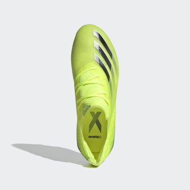 Chaussure X Ghosted.1 Terrain souple Jaune Enfants Football