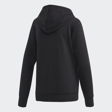 Sweat-shirt à capuche Essentials Linear Pullover Noir Femmes Sportswear