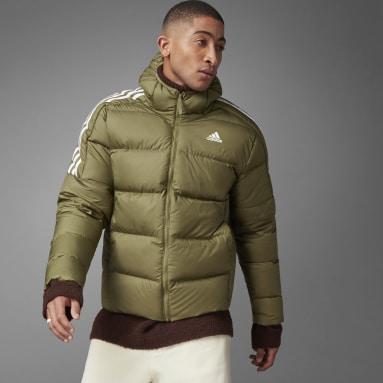 Men City Outdoor Green Essentials Midweight Down Hooded Jacket