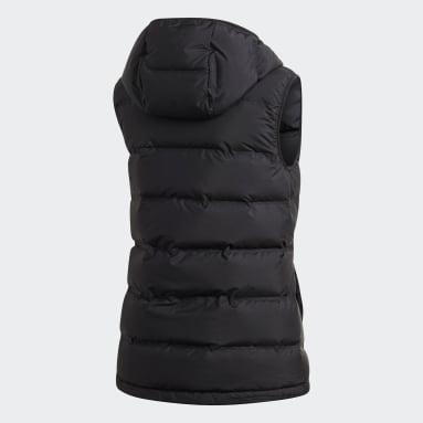 Women City Outdoor Black HELIONIC Down Hooded Vest