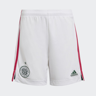 Youth 8-16 Years Football White Celtic FC 21/22 Third Shorts