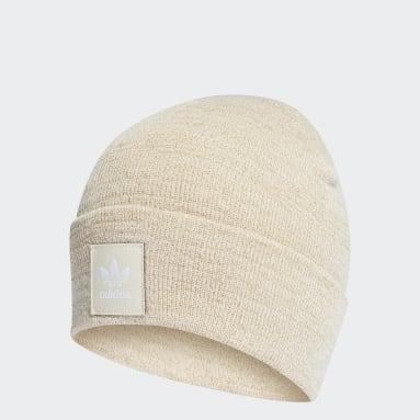 Gorro Adicolor Cuff Knit Glitter Blanco Originals