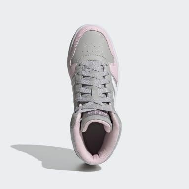 Children Sport Inspired Grey Hoops 2.0 Mid Shoes