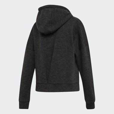 Chaqueta con capucha ID Mélange Negro Mujer Sportswear
