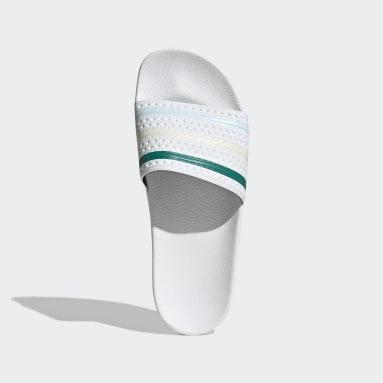 Men's Originals White Adilette Slides