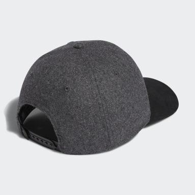Men Golf Black 3-Stripes Club Cap