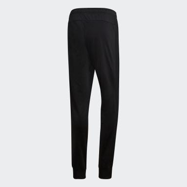 Men's Essentials Black Essentials 3-Stripes Tapered Tricot Pants