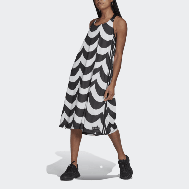 Kvinder Originals Sort Marimekko Midi Tank kjole