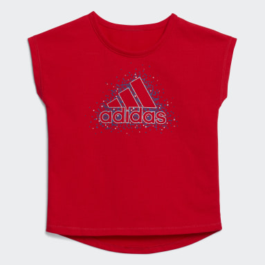 Infant & Toddler Training Red Graphic Tee and Shorts Set