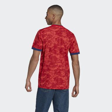 Camiseta segunda equipación Olympique de Lyon 21/22 Rojo Fútbol