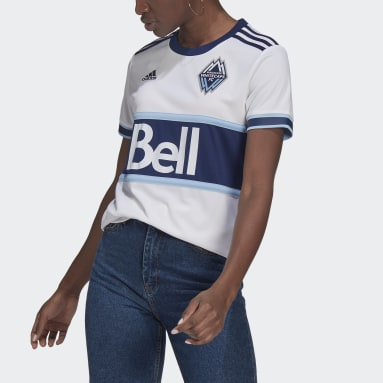 Women's Soccer White Vancouver Whitecaps FC 21/22 Home Jersey