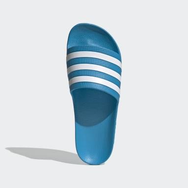 Dames Zwemmen Blauw adilette Aqua Badslippers