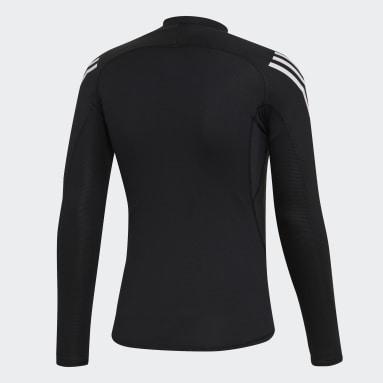 ผู้ชาย โยคะ สีดำ เสื้อยืด Alphaskin Sport+ 3-Stripes