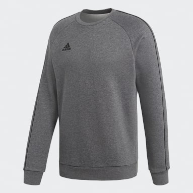 Men Gym & Training Grey Core 18 Sweatshirt