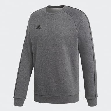 Sweat-shirt Core 18 Gris Hommes Fitness Et Training