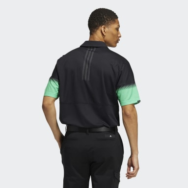 Men Golf Black Statement Recycled Content HEAT.RDY Polo Shirt
