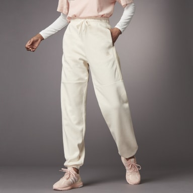 Women Sportswear White Hyperglam Shiny Joggers