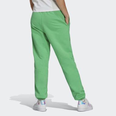 зеленый Брюки-джоггеры Adicolor
